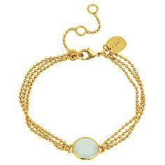 Julie Vos Piccolo Corsica Bracelet in Aqua Chalcedony