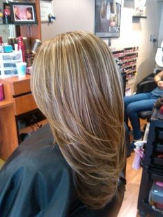 STYLE..but shorter.   brown hair with blonde highlights | Brown Hair with Highlights