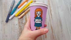 Cute craft idea for kids and adults. Funny and bright paper cup with Artistro paint pens. Cup painting idea Cute craft idea for kids and adults. Funny and bright paper cup with Artistro paint pens. Kids Crafts, Kids Craft Supplies, Cute Crafts, Diy And Crafts, Craft Projects, Art Supplies, Paint Pens For Wood, Paint Markers, Halloween Crafts