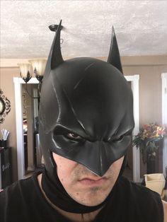 Batman Arkham Hybrid Cowl Batman Cowl, Batman Suit, Batman Costumes, Batman Cosplay, Arkham Knight, Batman Arkham, Bruno Diaz, Iron Batman, Arkham Games