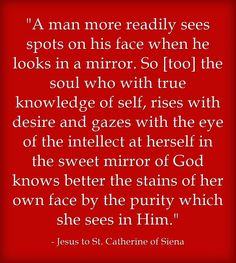 Harvesting The Fruits Of Contemplation: Have You Looked in The Mirror Lately?
