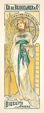 one of the rarest posters alphonse mucha made,had been kept in a private collection for almost 100 years