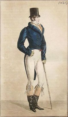 Costume de Lonchamp -- Published in Costume Parisien, 1817