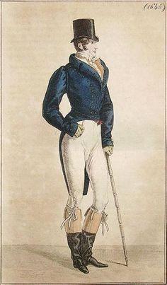 Costume de Lonchamp -- Published in Costume Parisien, 1817