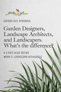 Now that you know what garden designers do, it's time to meet landscape architects. Learn more at the Garden Girl blog! Presents For Girls, Landscape Architects, Make A Plan, Landscape Plans, Girl Blog, Time Travel, Designers, Meet, Outdoor Structures