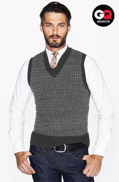 TULLIANO Woven Wool Blend Cardigan Sweater Vest V-Neck Sleeveless ...
