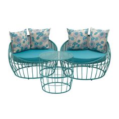 Shop for 89762 - Set of Three Metal Outdoor Chair
