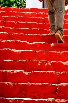 Red stairs, in Hydra island