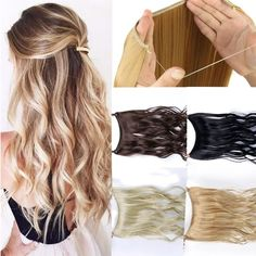 "Feel-Like-Real 24"" Premium Invisible Halo Hair Extension"