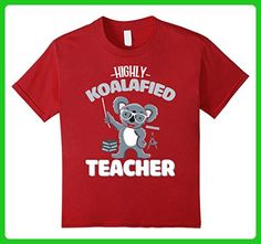 Kids Highly Koalafied Teacher T Shirt Funny For Teacher's Day 10 Cranberry - Careers professions shirts (*Amazon Partner-Link)
