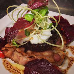 Porttabello Mushroom with Poached egg & Bacon on House made Ciabatta @ Amatissimo Cafe Bangkok