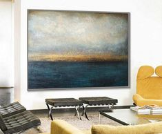 Large Abstract Paintings On Canvas Calming Painting Blue Abstract Painting Canvas Art Abstract Acrylic Painting Original Office Decor Black And White Painting, Blue Painting, Black And White Abstract, Acrylic Painting Canvas, Canvas Art, Large Canvas, Original Art, Original Paintings, Abstract Paintings