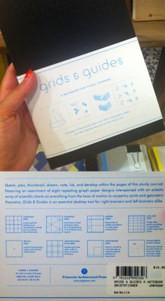 GRIDS & GUIDES at Mc Nally Jackson / $16.95. See inside: http://issuu.com/papress/docs/grids___guides/5?e=1189773/6710492
