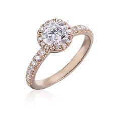 Rose Gold Engagement Ring @Gumuchian Jewels