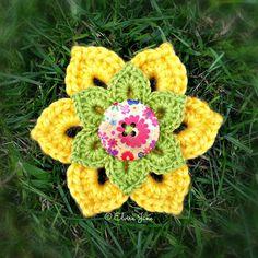 Crochet Brooch ~ designed and handmade by © Elvira Jane