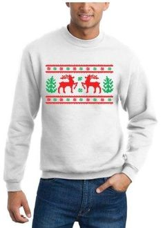 Ugly Christmas Sweater Design, Original Sweatshirt - White - M Amazing Apparel