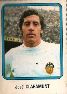 Valencia CF Jose CLARAMUNT Cromo Ediciones Vulcano 1975-76