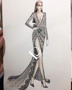 Fashion Design Sketchbook, Fashion Design Drawings, Fashion Sketches, Weird Fashion, Fashion Art, Glitter Photography, Fashion Illustration Dresses, Dress Sketches, Ao Dai