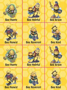 Bee attitudes stickers Sunday School Crafts For Kids, Sunday School Lessons, Bee Facts For Kids, Bee Quotes, Library Themes, Bee Creative, Bee Cards, Bee Theme, Bee Happy