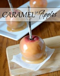 The caramel can be used for dipping apple slices or cook a little longer to coat your apples. Either way it will make a delicious snack! Check the reviews for tips on making into caramel apples instead of a sauce.  So yummy and worth making! #MyAllrecipes #Halloween #Fall #caramel #apples