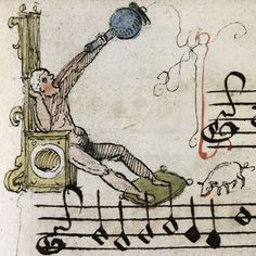 discarding images — 'K' initials Chansonnier of Zeghere van Male,. Medieval Music, Medieval Times, Medieval Art, Illuminated Letters, Illuminated Manuscript, Typography Alphabet, Medieval Manuscript, Middle Ages, Humor