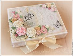 Shabby Chic Diy Angel Wings, Cigar Box Art, Shabby Chic Accessories, Decoupage Box, Diy Gift Box, Vintage Crafts, Diy For Girls, Greeting Cards Handmade, Diy And Crafts