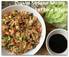 Orange Sesame Shrimp Lettuce Wraps – Weight Loss Plans: Keto No Carb Low Carb Gluten-free Weightloss Desserts Snacks Smoothies Breakfast Dinner… Low Carb Shrimp Recipes, Carb Free Recipes, Grilled Shrimp Recipes, Easy Recipes, Healthy Recipes, Wrap Recipes For Lunch, Diabetic Recipes For Dinner, Low Carb Dinner Recipes, Carb Free Dinners