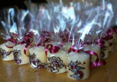 gift ideas for wedding favors..  hand made henna candles minature candles, created by henna dezignz