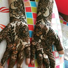 Mehndi design makes hand beautiful and fabulous. Here, you will see awesome and Simple Mehndi Designs For Hands. Dulhan Mehndi Designs, Mehandi Designs, Dubai Mehendi Designs, Pakistani Henna Designs, Khafif Mehndi Design, Mehndi Design Photos, Wedding Mehndi Designs, Hena Designs, Mehndi Images