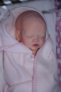 Full Bodied Solid Silicone Baby Girl Mackenzie Asleep by Joanna Gomes