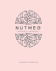 Food Logo Design, Modern Logo Design, Brand Identity Design, Branding Design, Logo Design Flower, Minimalist Design, Logo Floral, Business Logo, Business Design