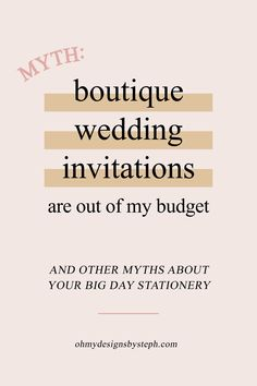 Custom wedding invitations aren't just for celebrities and people having million dollar weddings. If you think working one-on-one with a designer will break the bank, think again!