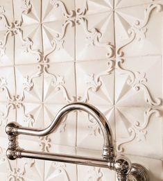 View the portfolio of handmade terracotta tile installations of Tabarka Studio. Country Kitchen Tiles, Kitchen Backsplash, Backsplash Ideas, Tabarka Tile, Paint Thinner, Tile Installation, Shower Floor, Metal Roof, Terracotta
