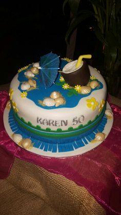 Hawaiin birthday cake