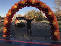 Classic balloon arch with diamond pattern