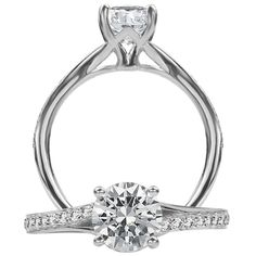 Modern Engagement Ring by Ritani from http://www.zimmerbrothers.com/