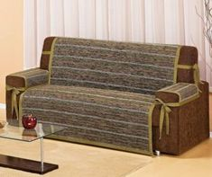 Home Ideas: Decoration and costuras_ Case sillón_ Pet Couch Cover, Diy Sofa Cover, Couch Covers, Comfortable Living Room Chairs, Sofa Protector, Techniques Couture, Sofa Throw, Furniture Covers, Sofa Chair