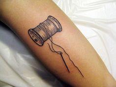 spool of thread tattoo= awesome