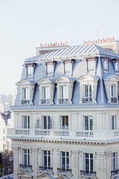 Baby Blue Aesthetic, Aesthetic Colors, French Architecture, Facade Architecture, Neoclassical Architecture, Balkon Design, Grand Paris, Little Paris, Building Exterior