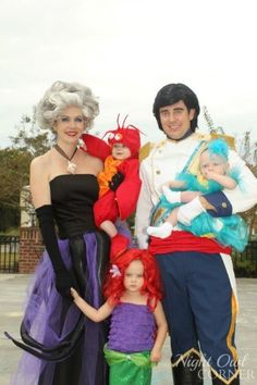 Happy Halloween from Ariel, Flounder, Prince Eric and Ursula! - Night Owl Corner