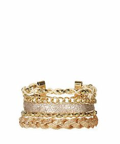 null (Multi Col) Gold Multi Chain Bracelet | 304380999 | New Look ....nice