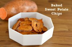 baked sweet potato chips, healthy snack recipes, baked chips