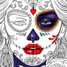 Line Artsy Purchase Dia De Muertos Adult Coloring Page