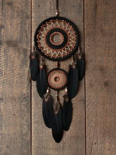 Black dream catcher / Dream catcher / Dream by MyHappyDreams Dream Catcher Decor, Black Dream Catcher, Dream Catcher Boho, Diy Dream Catcher Tutorial, Beautiful Dream Catchers, Barber Shop Decor, Bottle Cutter, Dream Catcher Native American, Feather Crafts