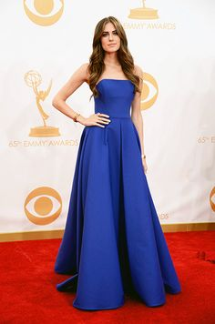 Allison Williams - Ralph Lauren Roger Vivier, Red Carpet Fashion, Strapless Dress Formal