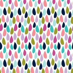 raindrops || good cheer collection fabric by littlearrowdesign on Spoonflower - custom fabric