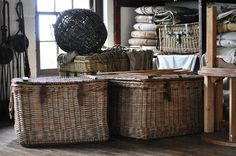 Old vintage baskets Luggage and nets by Georgina-Gibson