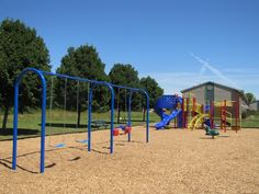 Full-sized swing set and playground at Kimber Green Apartments | Apartments for Rent in Evansville, IN