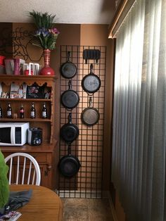 30 Insanely Smart DIY Kitchen Storage Ideas - Best Home Ideas and Inspiration Pan Storage, Iron Storage, Interior, Rustic Kitchen Design, Home, Diy Kitchen Storage, Diy Kitchen, Rustic Kitchen, Kitchen Pot