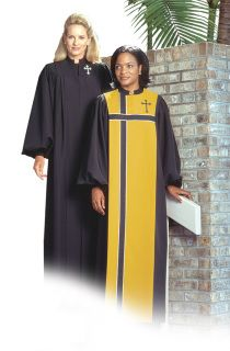 A basic cuffed robe, the MANDARIN offers complete coverage and ultimate simplicity. Choose your own colors, fabrics, and optional embroidered letters or symbols for a look that is just right for your choir. Choir Uniforms, Choir Dresses, Praise The Lords, African Attire, Fabric Samples, Church Ideas, Fashion Design, Women's Fashion, Barbershop